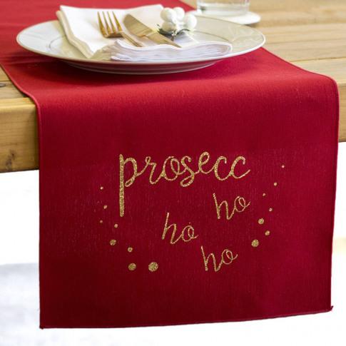 'Prosecc Ho Ho Ho' Large Table Runner
