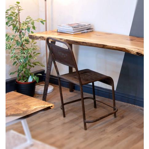 Live Edge Desk With Ebonised Oak Legs