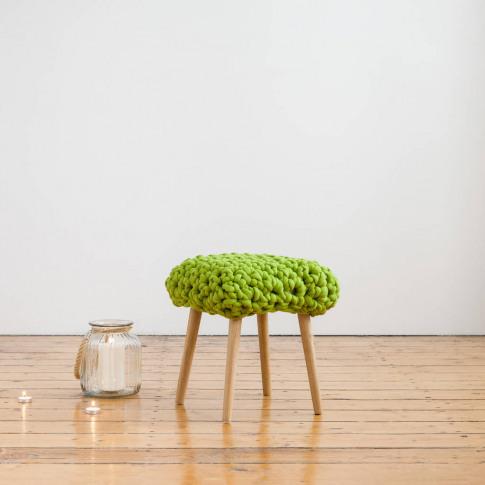 'Demetrius' Handwoven Yarn Footstool