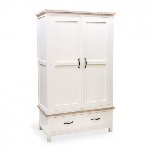 Bayonne Two Door Double Wardrobe White Or Grey