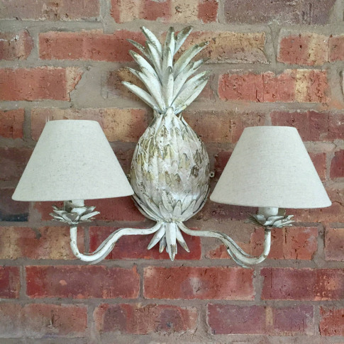 Pineapple Metal Double Wall Light