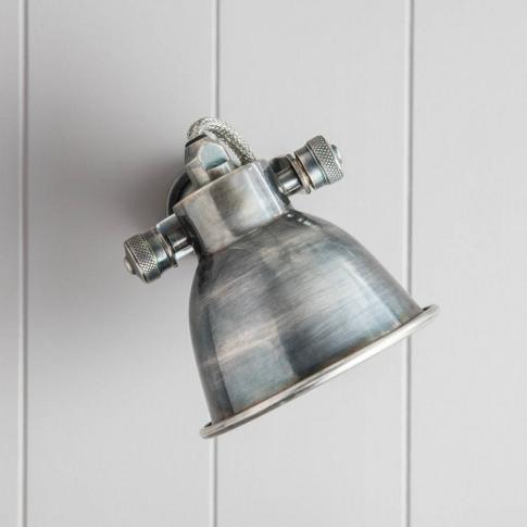 Nickel Wall Lamp Edison Screw Bulb