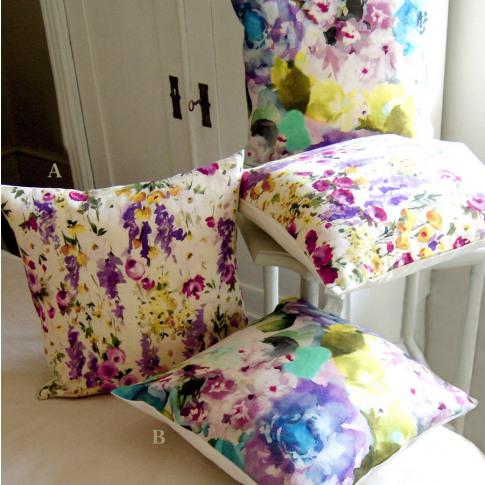 Watercolour Botanical Print Cushions