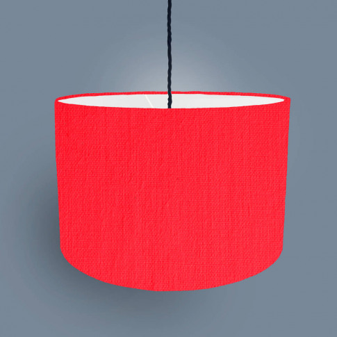 Neon Lampshade With A White Lining