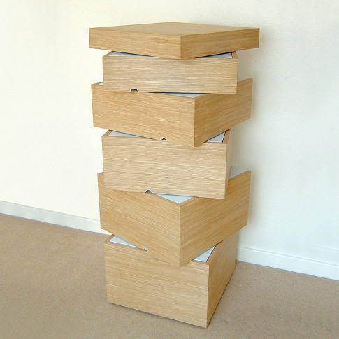 Wooden Rotation Chest Of Drawers