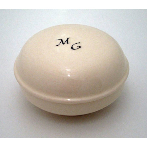 Personalised Shaving Soap Dish And Soap