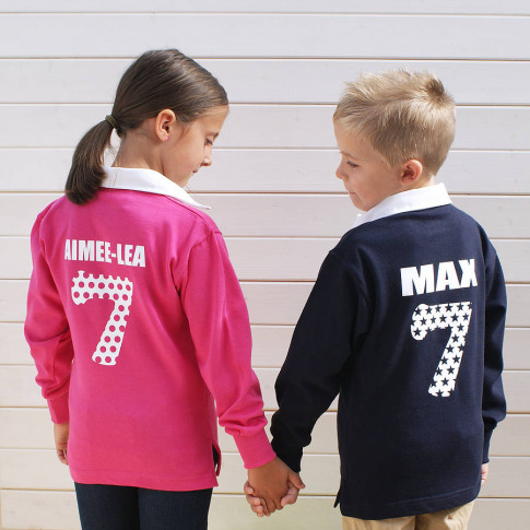 Personalised Childrens Rugby Shirt