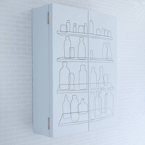 Inside Out Double Door Bathroom Cabinet