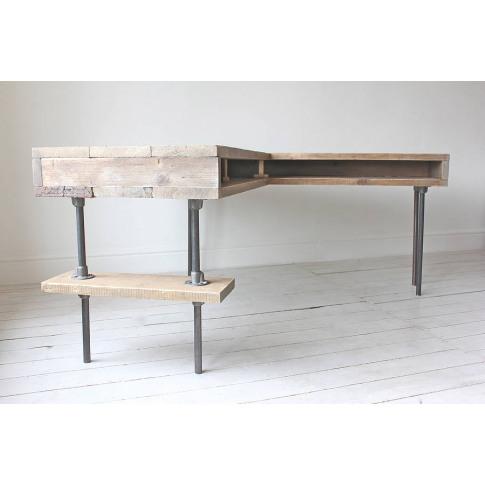 Stuart Industrial Reclaimed Board Corner Desk