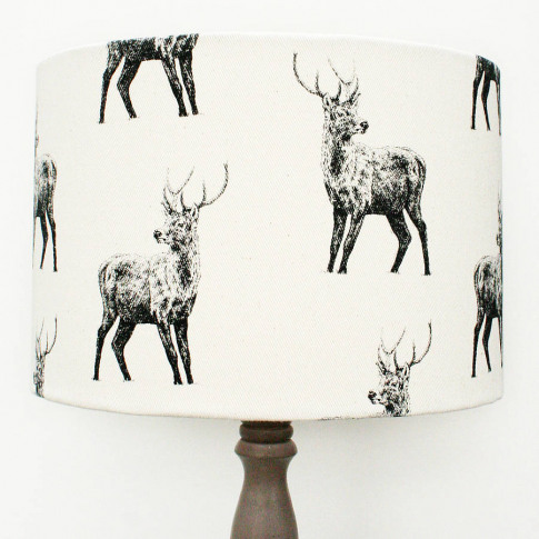 Hand Printed Stag Lampshade