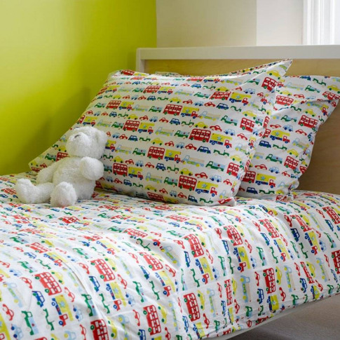 Car And Buses Single Duvet Cover