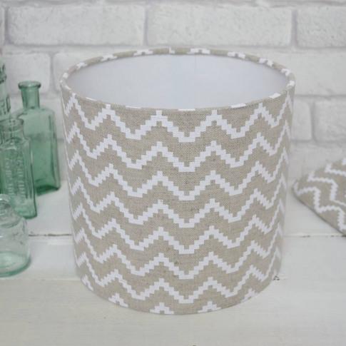 Chevron Linen Handmade Lampshade