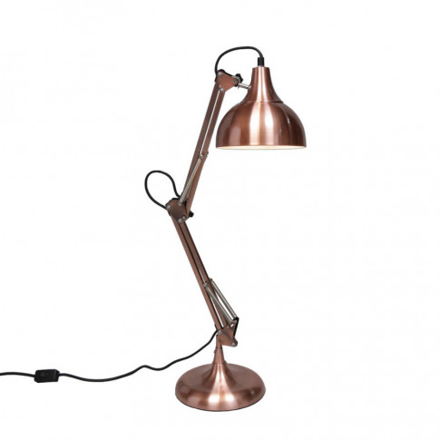 Large Copper Angle Desk Lamp