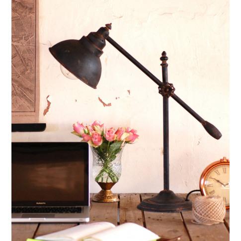 Industrial Steel Counterbalance Desk Lamp