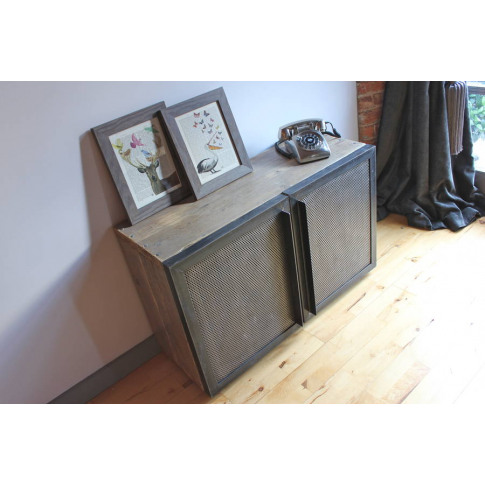 Sam Reclaimed Pine And Steel Media Unit