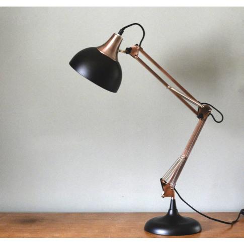 Copper And Black Desk Lamp