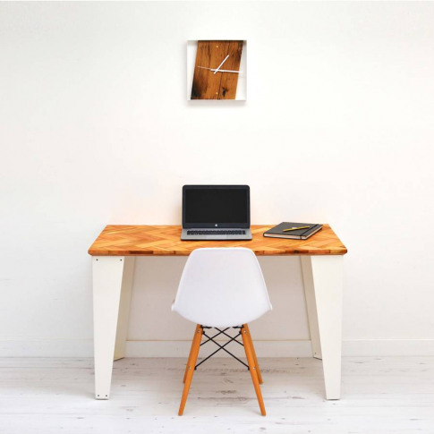 Reclaimed Parquet Desk