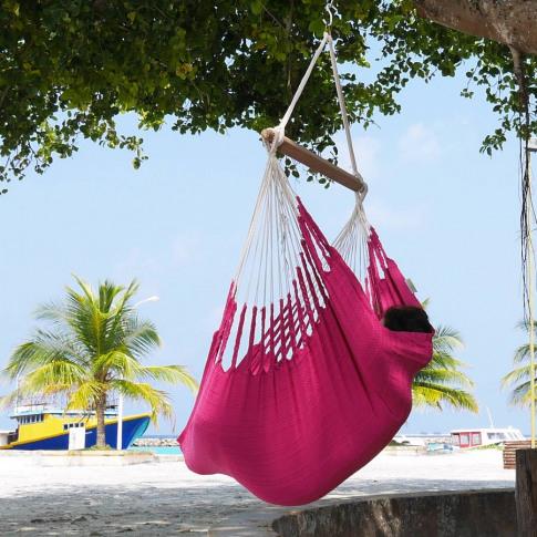 Knit Fuschia Cotton Hanging Chair