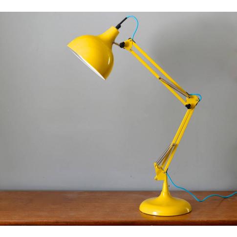 Acid Yellow Angled Desk Lamp