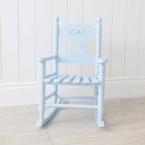 Personalised Blue Children's Rocking Chair