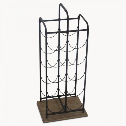 Avondale Iron and Wood Wine Rack