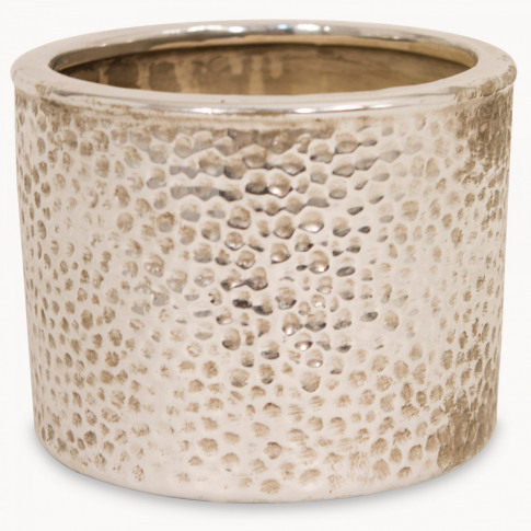 Birkdale Planter In Silver Finish