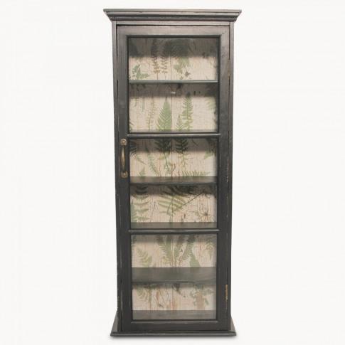 Brookby Black Glass Door Cabinet