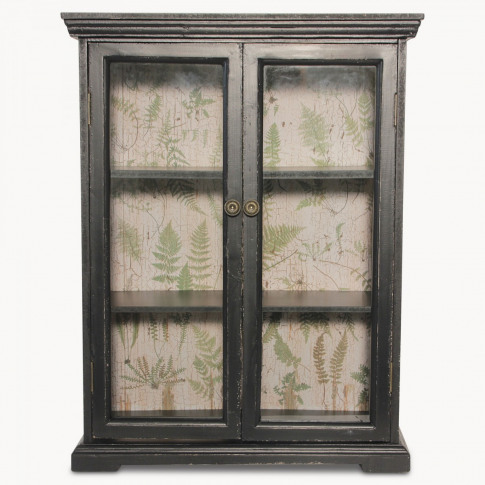 Brookby Black Glassfronted Wall Cabinet