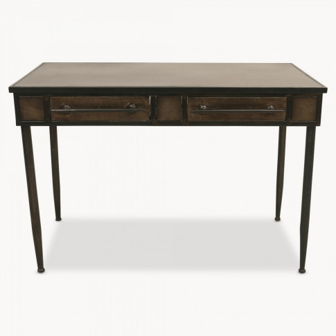 Brookby Metal Desk with Two Drawers
