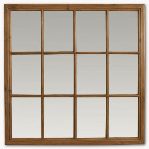 Brookby Natural Wood Window Mirror