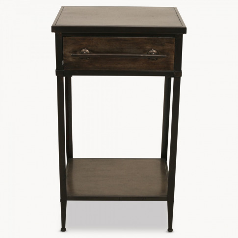 Brookby Industrial Iron Side Table