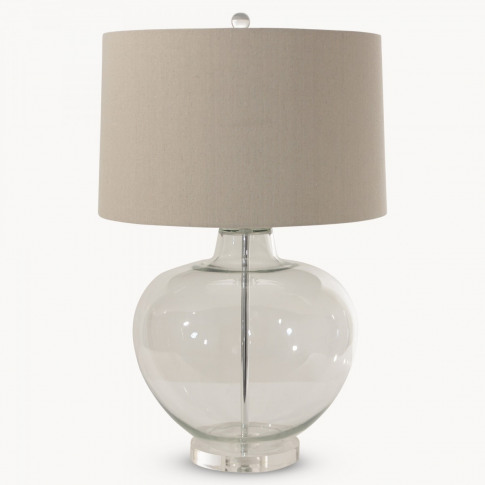 Clifton Clear Glass Table Lamp With Shade