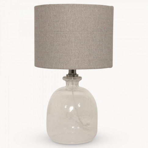 Clifton Round Glass Table Lamp With Shade