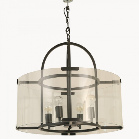 Dunbar Antique Black and Glass Pendant