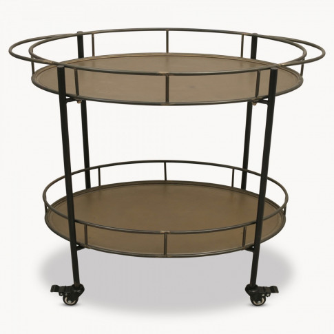 Granville Oval Iron Drinks Trolley