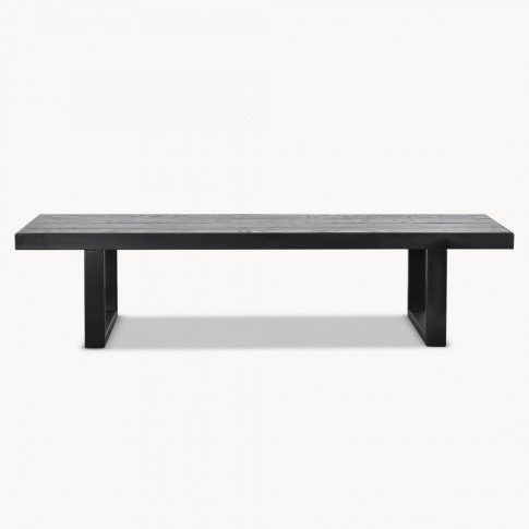Kingswood Black Stained Oak and Metal Coffee Table