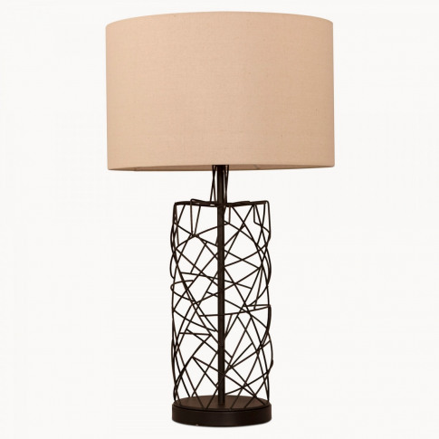 Derby Wire Framed Table Lamp With Shade