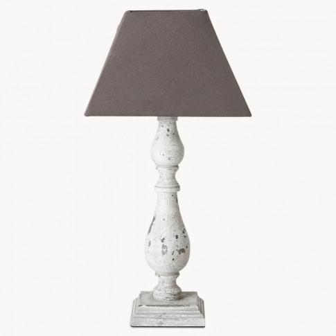 Mowbray Balluster Grey Table Lamp