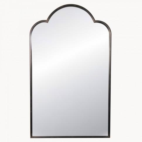 Brookby Industrial Black Iron Mirror