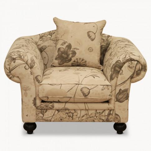 One. World x Kew Fabrics Woodcroft Natural Lounge Chair