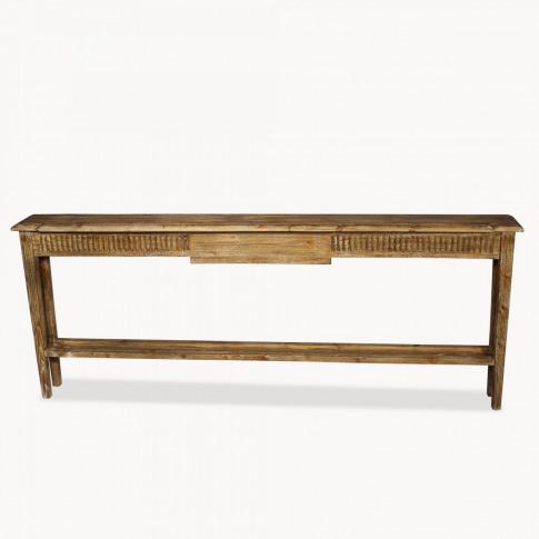 Woodcroft Large Vintage Slim Console Table