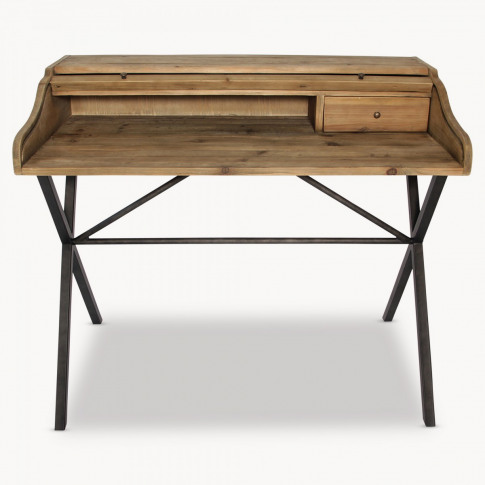 Woodcroft Reclaimed Pine and Iron Desk