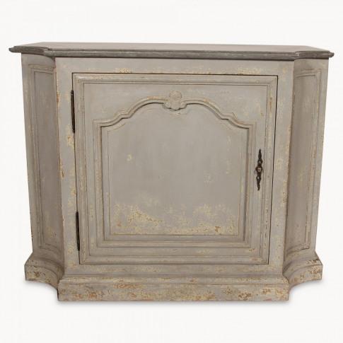 Woodcroft Colonial Grey Stone Top Single Door Cabinet