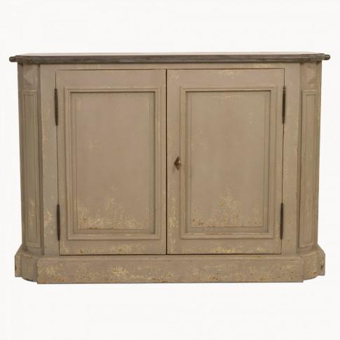 Woodcroft Colonial Grey Stone Top Two Door Sideboard