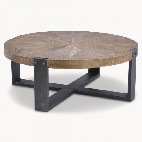 Woodcroft Round Reclaimed Elm Coffee Table