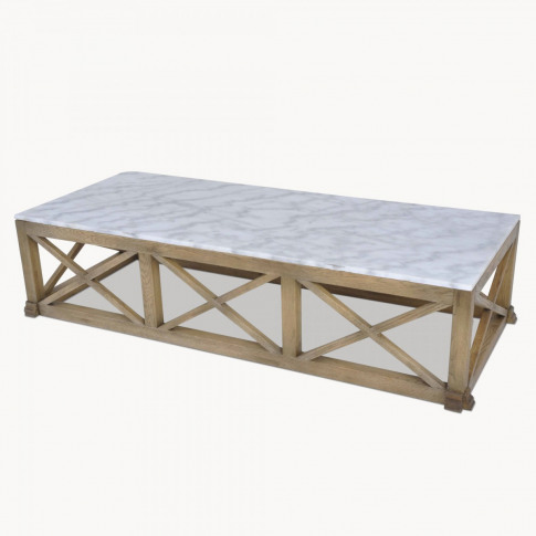 Woodcroft Oak And Marble Coffee Table