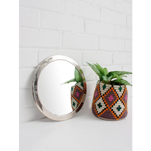 Bohemia Design | Moroccan Circle Mirror, White Brass