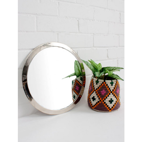 Bohemia Design | Moroccan Circle Mirror, White Brass