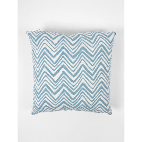 Bohemia Design | Zigzag Cushions, Ice Blue