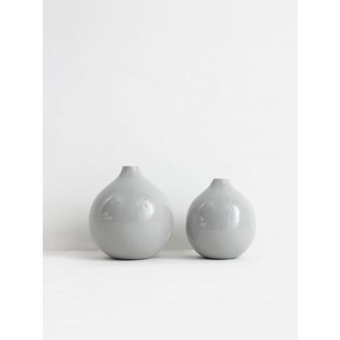 Bohemia Design | Grey Enamel Ball Vase (Slight Seconds)